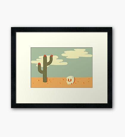 Desert Wasteland Framed Print