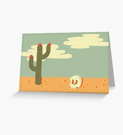 Desert Wasteland Greeting Card