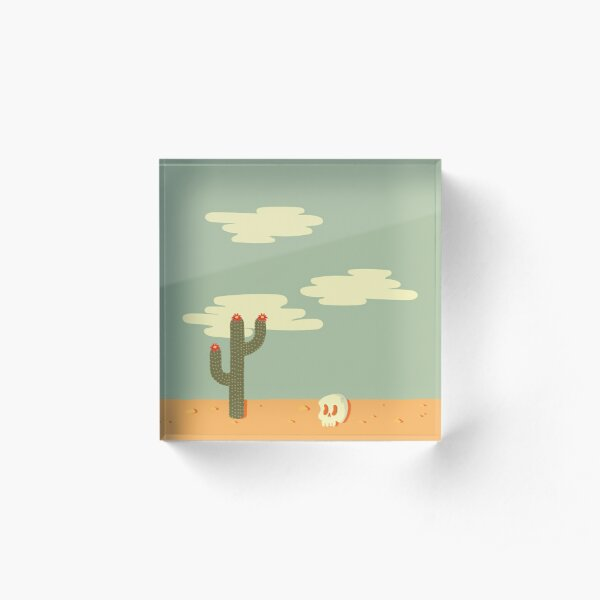 Desert Wasteland Acrylic Block