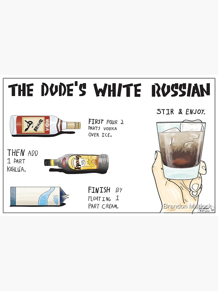 The Dude's White Russian by bmanyay