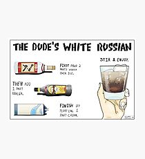The Dude's White Russian Photographic Print