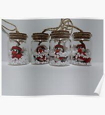 Penguins in jar Poster