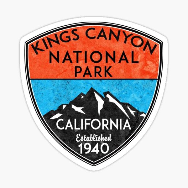 KINGS CANYON NATIONAL PARK CALIFORNIA MOUNTAINS HIKE HIKING CAMP CAMPING NATURE  Sticker