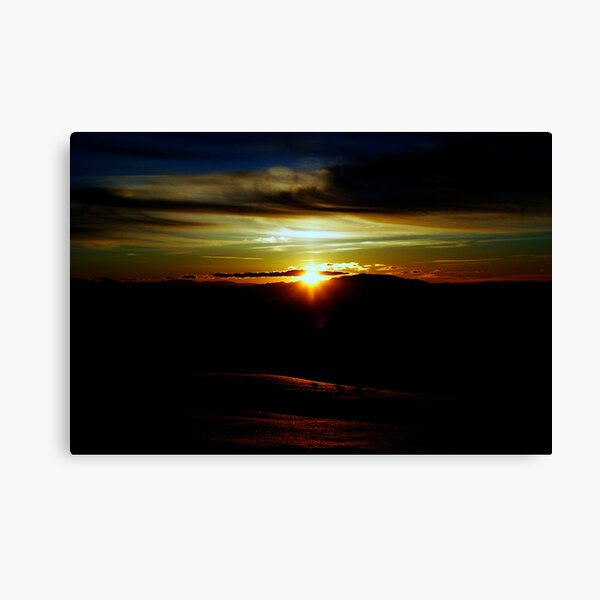 Sunset of Many Colours Canvas Print