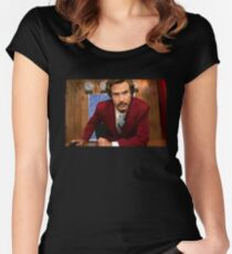 Ron Burgundy Women's Fitted Scoop T-Shirt