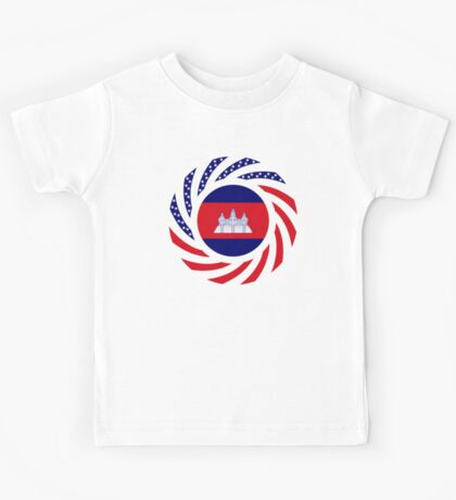 Cambodian American Multinational Patriot Flag Kids Clothes