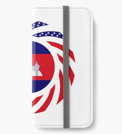 Cambodian American Multinational Patriot Flag iPhone Wallet