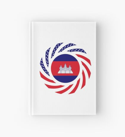 Cambodian American Multinational Patriot Flag Hardcover Journal