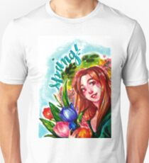 Tulips in Spring (Cheap Art Challenge) Unisex T-Shirt