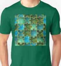 Puzzle grünblau Unisex T-Shirt