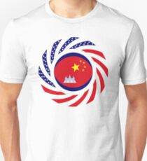 Chinese/Cambodian American Multinational Patriot Flag Series Slim Fit T-Shirt