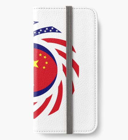 Chinese/Cambodian American Multinational Patriot Flag Series iPhone Wallet