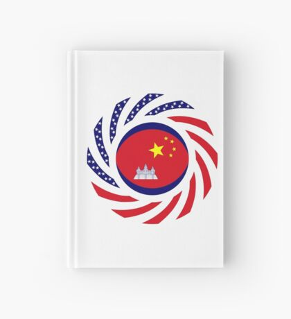 Chinese/Cambodian American Multinational Patriot Flag Series Hardcover Journal