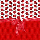 Sweet Red Ladybugs by purplesensation