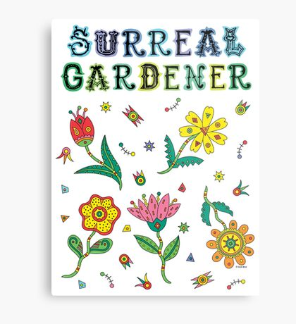 Surreal Gardener Metal Print
