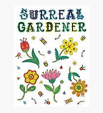 Surreal Gardener Photographic Print