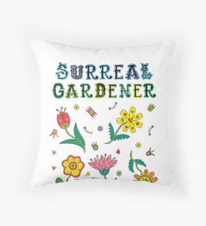 Surreal Gardener Throw Pillow