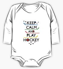 Keep Calm and Play Hockey - on white     One Piece - Long Sleeve