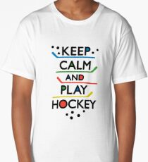 Keep Calm and Play Hockey - on white     Long T-Shirt