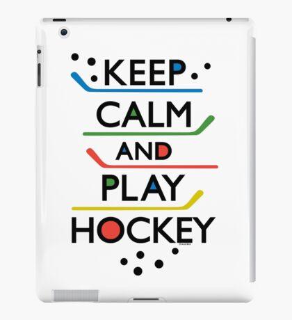 Keep Calm and Play Hockey - on white     iPad Case/Skin