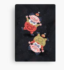 Tweedledum & Tweedledee - Alice in Wonderland Canvas Print