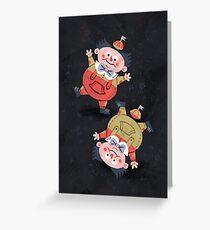 Tweedledum & Tweedledee - Alice in Wonderland Greeting Card