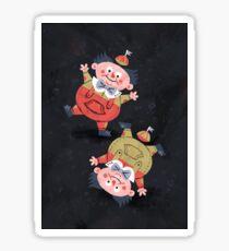 Tweedledum & Tweedledee - Alice in Wonderland Sticker