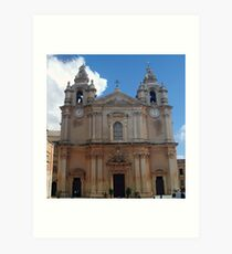 The Cathedral of Mdina Art Print