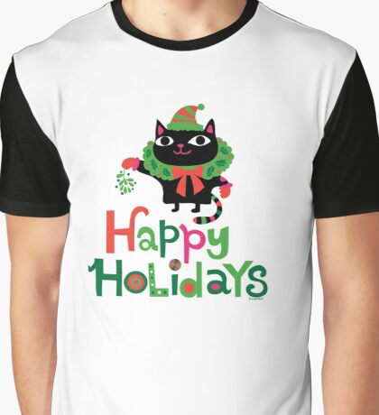Happy Catiday Holiday   Graphic T-Shirt
