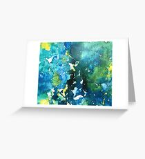 Ink Series I (Blue, Green and Yellow) Greeting Card