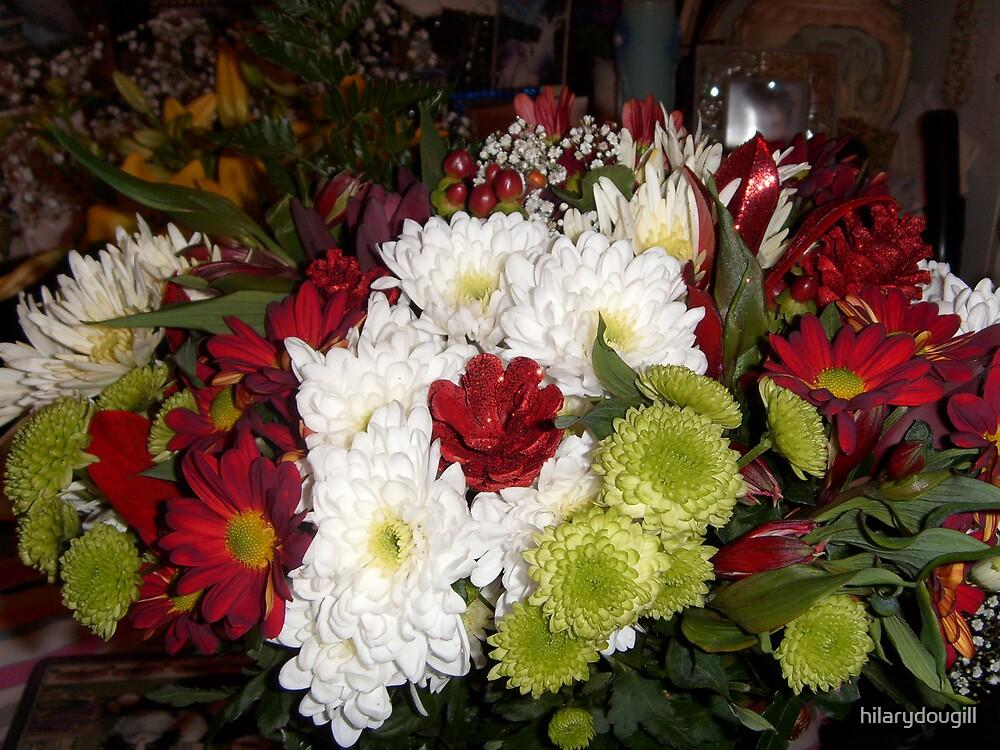 Christmas flowers by hilarydougill