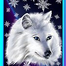 WHITE SNOW WOLF  by Lotacats