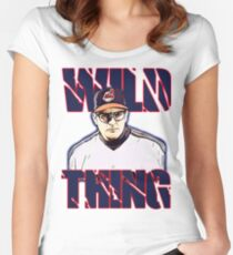 Wild thing - Rick Vaughn Women's Fitted Scoop T-Shirt
