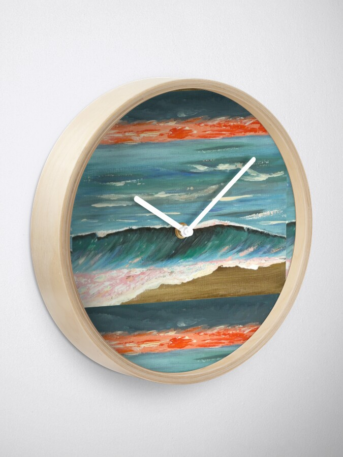Alternate view of Fiery sunset Clock