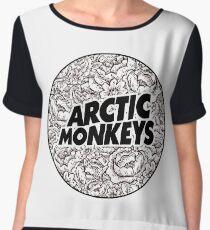 Arctic Monkeys | Flower Circle Logo [black] Chiffon Top