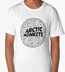 Arctic Monkeys   Flower Circle Logo [black] Long T-Shirt