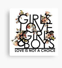 GIRLS/GIRLS/BOYS Canvas Print
