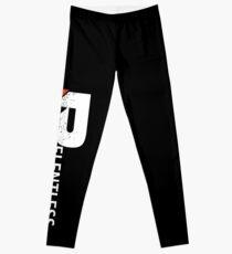 Relentless Gear Logo Vertical - White/Red Leggings