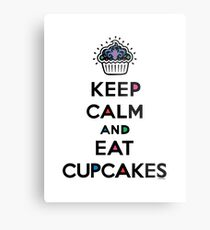 Keep Calm and Eat Cupcakes 6 Metal Print