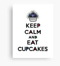 Keep Calm and Eat Cupcakes 6 Canvas Print