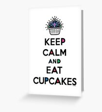 Keep Calm and Eat Cupcakes 6 Greeting Card