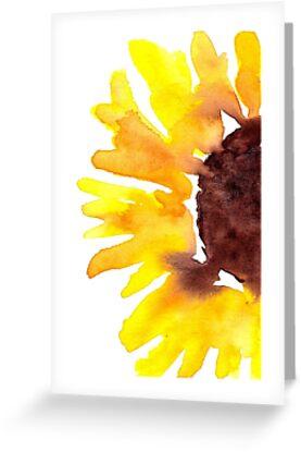 Watercolor Sunflower by beccadryden