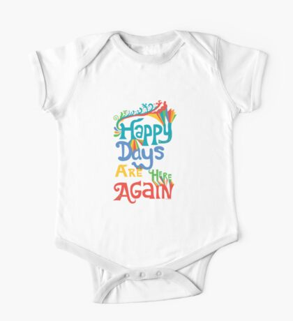 Happy Days Are Here Again - on lights Kids Clothes