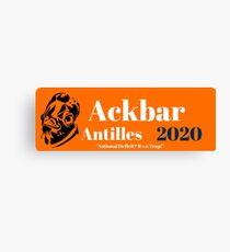 Ackbar Antilles 2020 Canvas Print