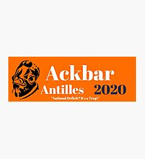 Ackbar Antilles 2020 Photographic Print