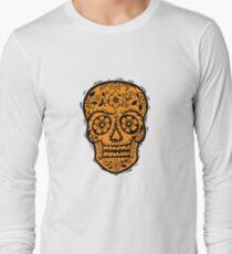 Sugar Skull SF Halloween on blk Long Sleeve T-Shirt