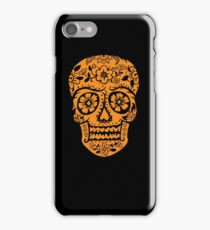 Sugar Skull SF Halloween on blk iPhone Case/Skin
