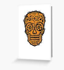 Sugar Skull SF Halloween on blk Greeting Card