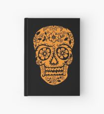 Sugar Skull SF Halloween on blk Hardcover Journal