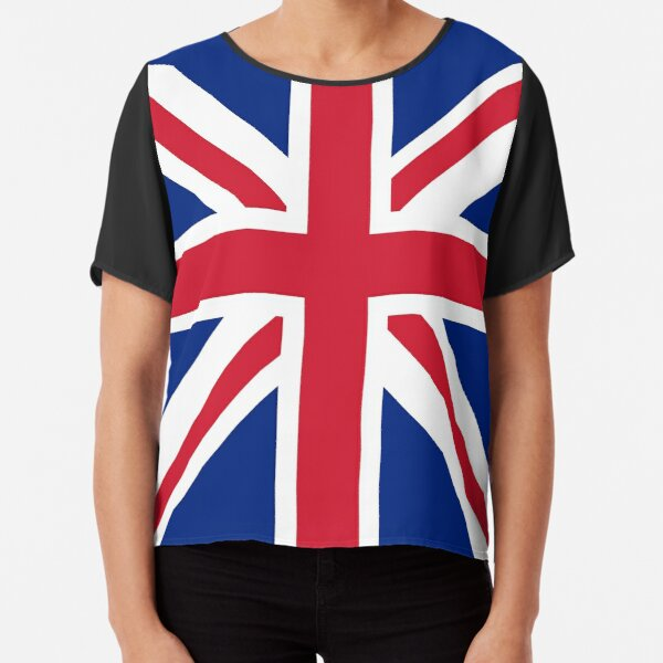 Navy Queen Vintage Union Jack Womens Fitted T-Shirt